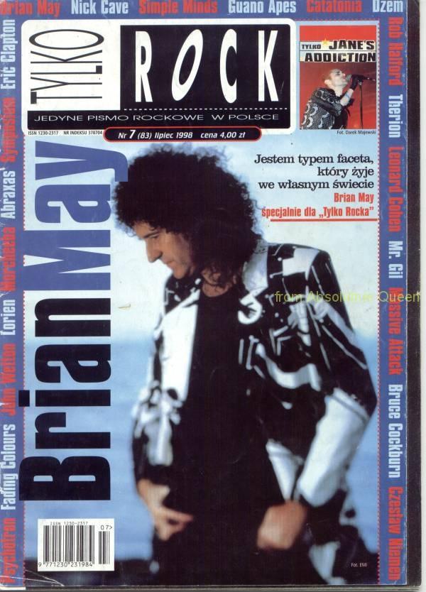 Tylko Rock 07/1998 okładka