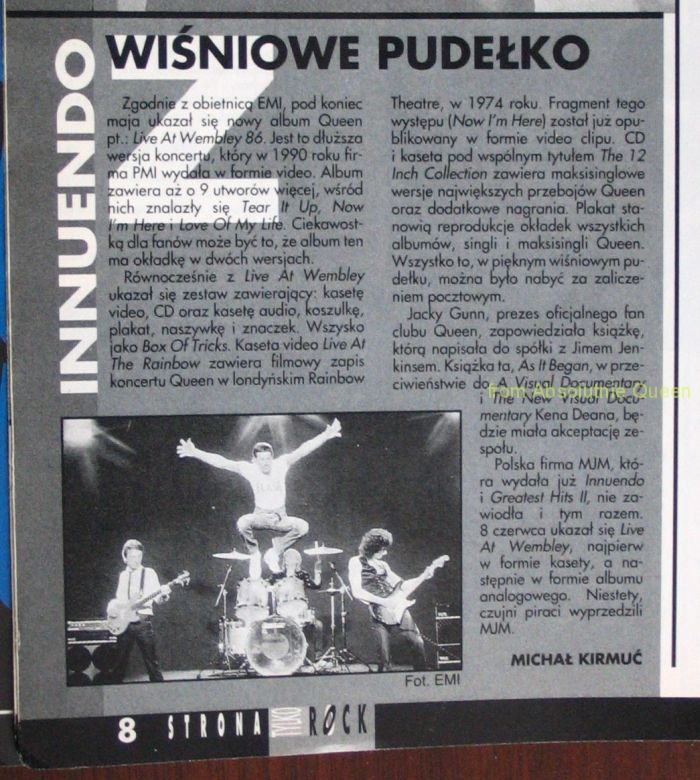 Tylko rock 09/1992 Innuendo