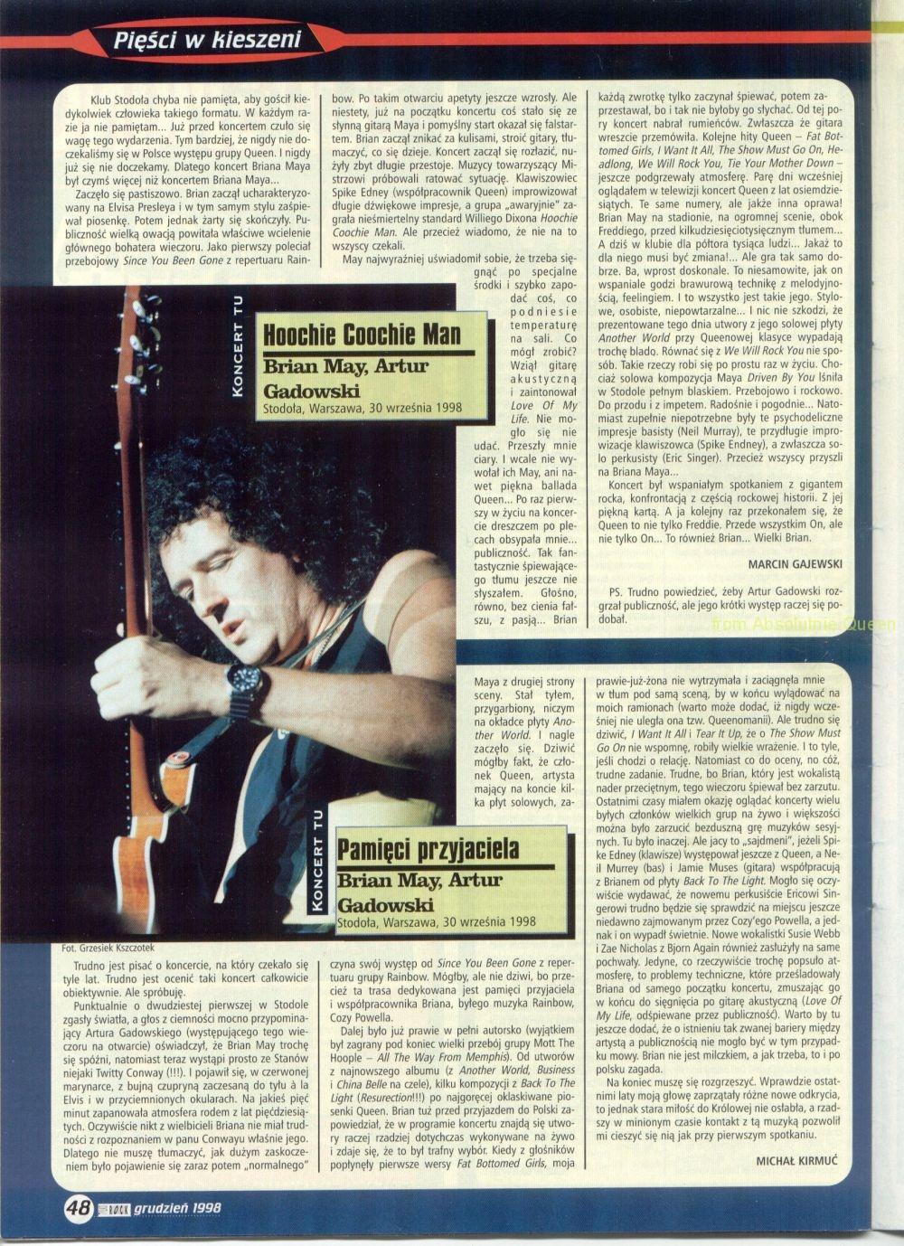 Tylko Rock Brian Stodoła 1998