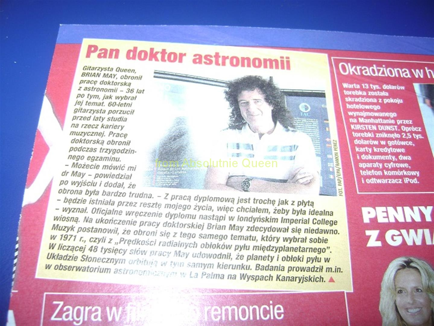 BRIAN MAY PAN DOKTOR ASTRONOMII - program expresu bydgoskiego 2008 r.