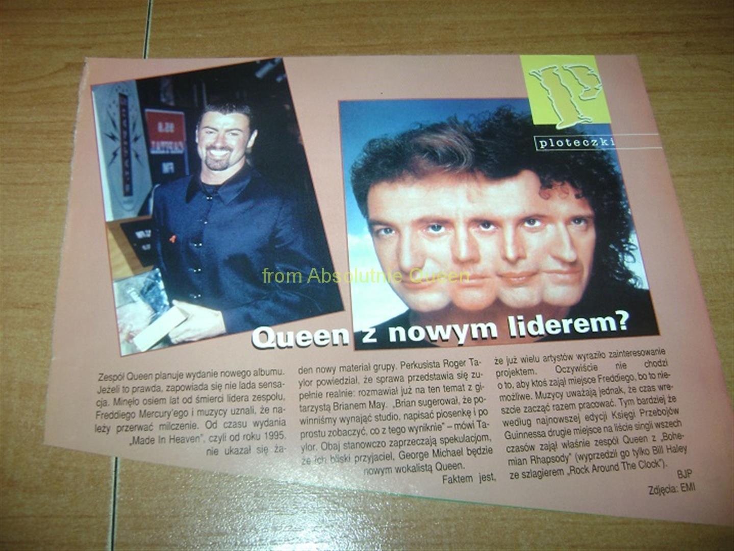 QUEEN Z NOWYM LIDEREM - jakieś pismo z 1999 roku