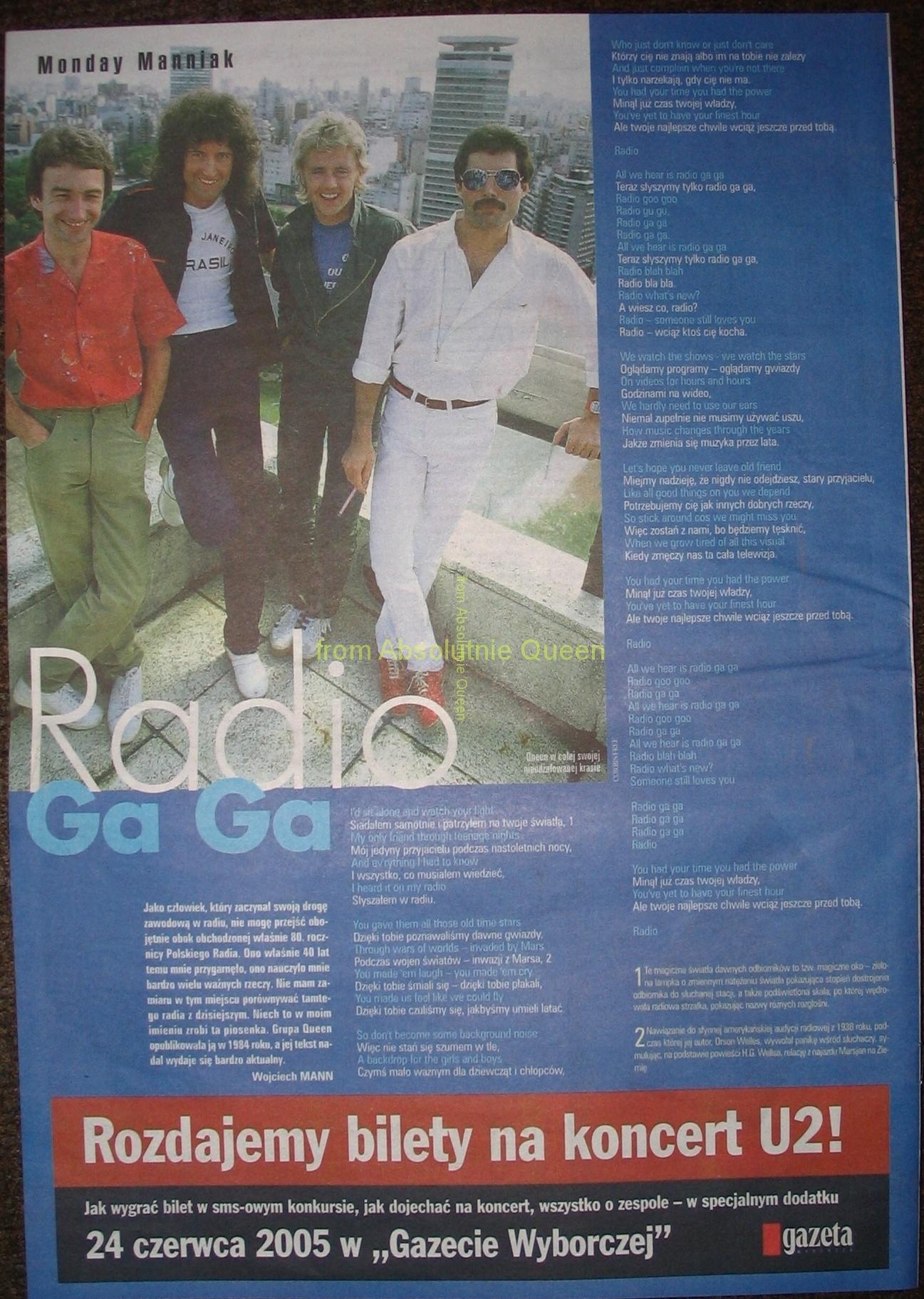 Duży Format GW - Radio GaGa 2005