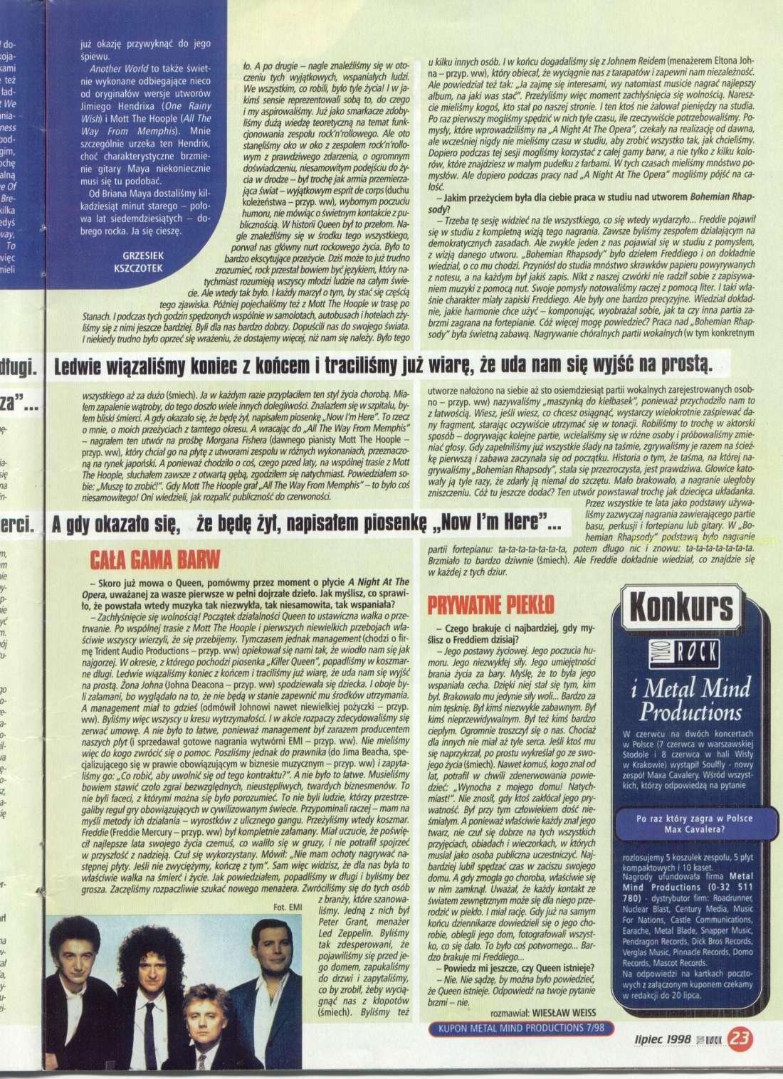 Tylko Rock 07/1998 cz.4